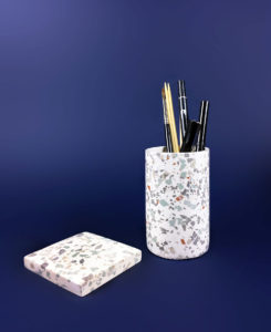 terrazzo pot_DIY_granito_tutoriel pot crayon claire barrera