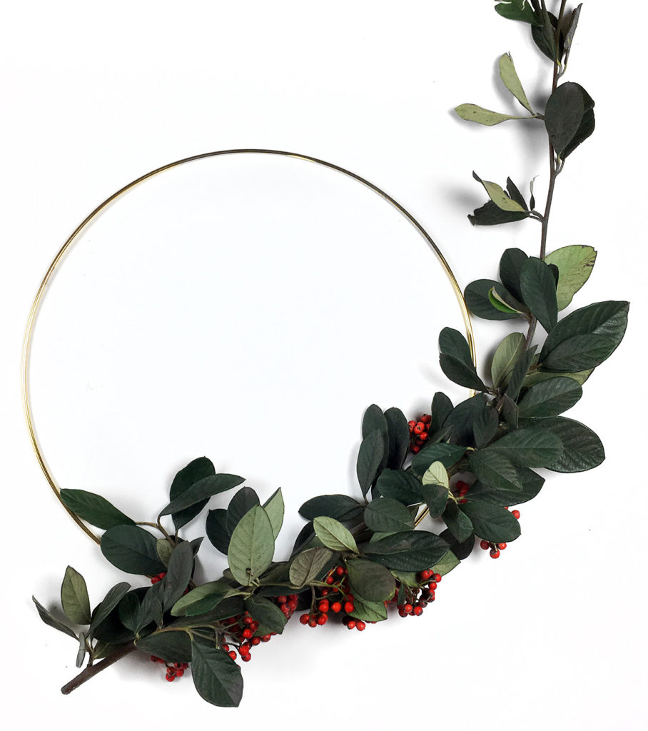 DIY couronne de l'avent noel deco branche faire do it yourself