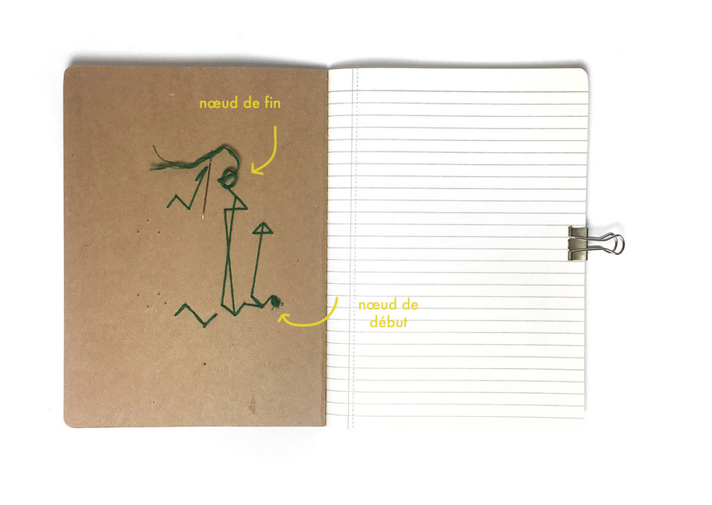 personnaliser cahier broder carnet broderie diy papier geometrique customiser