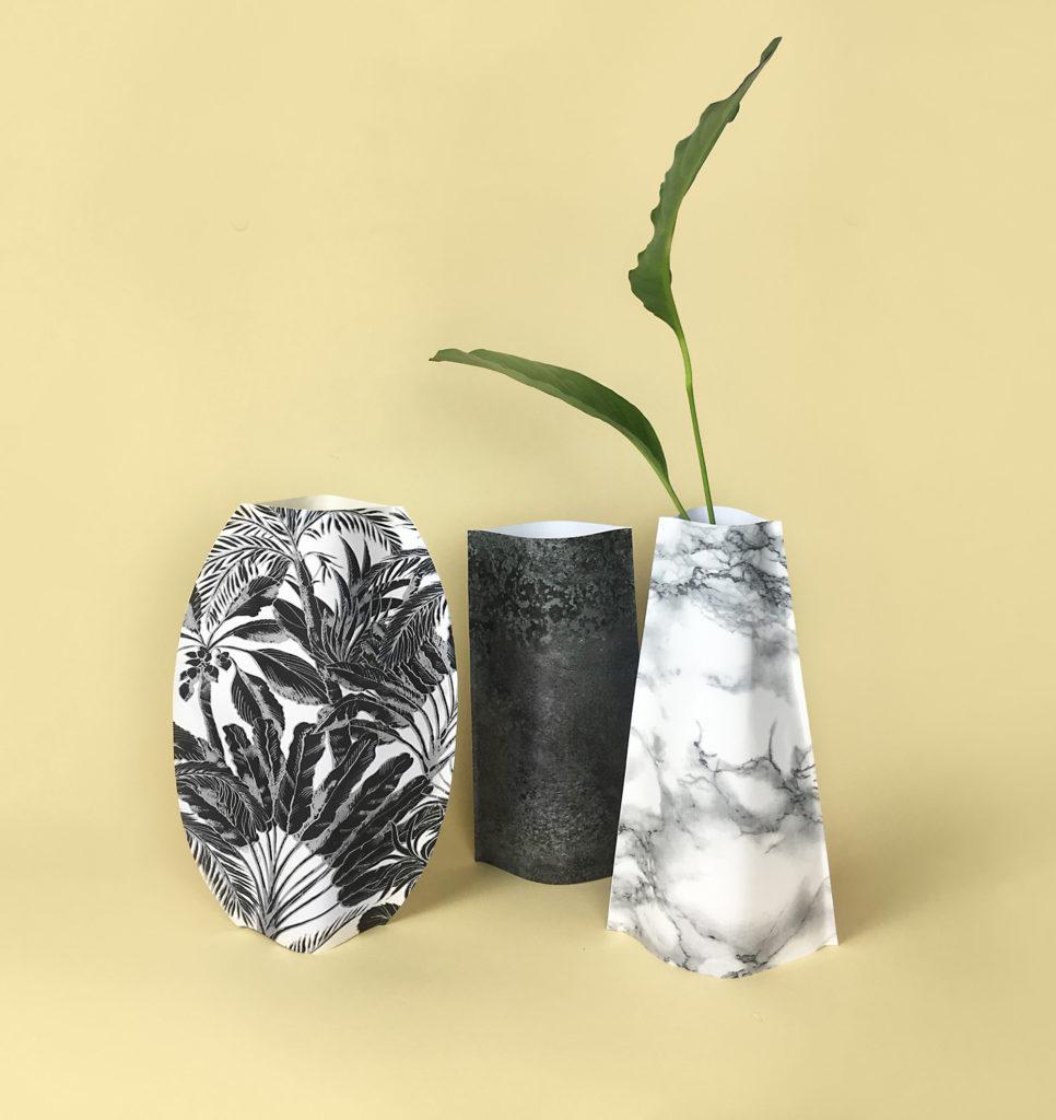 diy-flower-paper-vase-papier-tutoriel claire barrera
