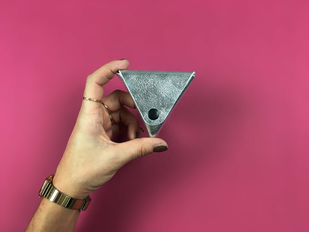 porte monnaie diy pochette cuir Triangle cadeau noel tuto claire barrera