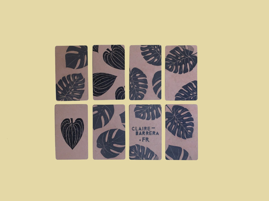 DIY tuto stamp lino linocut stamping tampon encreur tutoriel claire barrera
