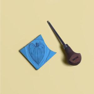 DIY tuto stamp lino linocut stamping tampon encreur tutoriel